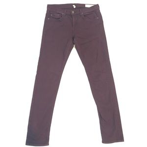 Rag and Bone The Dre Aged Wine Stretch Jeans 28